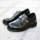 Velcro Monk Strap Improve Height Shoes black
