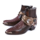 Genuine Crocodile Leather Brown Western Boots