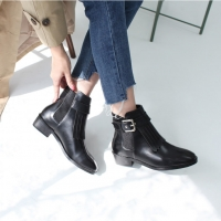 Fringe Belt Strap Low Boots