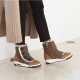 Air Cushion Sole wedge Heel Fur Button Boots