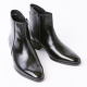 New Black Leather Ankle Boots