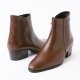 New Brown Leather Ankle Boots
