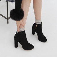 hidden platform high heel ankle boots