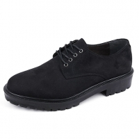 Men's round toe synthetic suede casual shoes