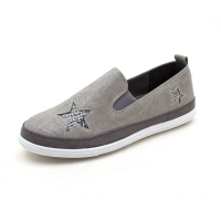 Women's star flat gray sneakers