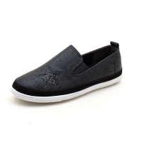 Women's star flat black sneakers