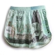 Men's korea lucky money pattern cotton boxer briefs underwear trunk slip pants