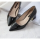 Glossy Black Pointed Toe Pumps
