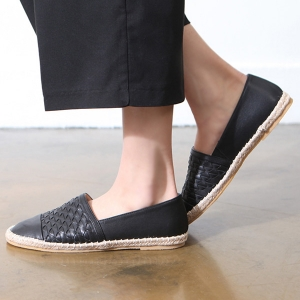 http://what-is-fashion.com/5692-44103-thickbox/black-women-s-vintage-synthetic-leather-espadrille-slip-on-weave-sneakers.jpg