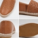 women's vintage synthetic leather espadrille slip on weave sneakers  brown