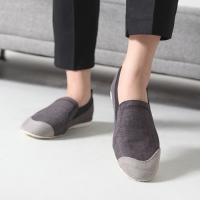Women's Fabric Two Tone Wedge Heel Loafer Sneakers Shoes US5 - US10