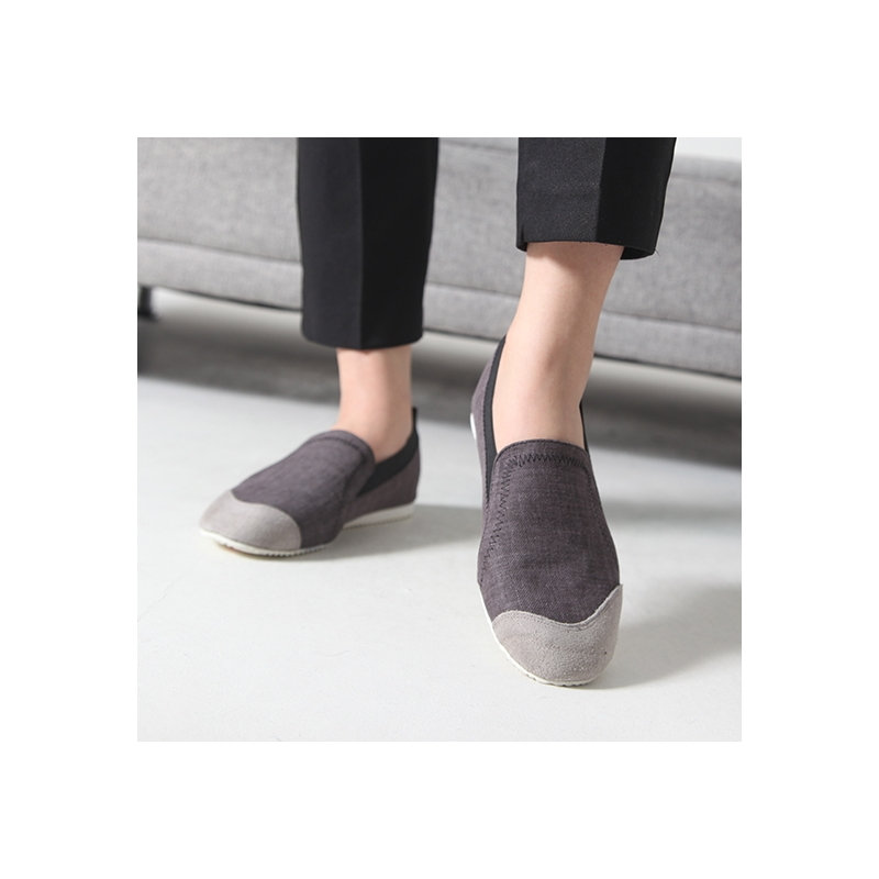 4c11afbbc21 Women s Fabric Two Tone Wedge Heel Loafer Sneakers Shoes US5 - US10