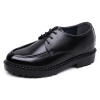 Men's Black Increase Height Hidden insole Casual Oxford Elevator Shoes
