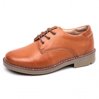 Men's Brown Round Toe Padding Entrance Oxford Casual Shoes
