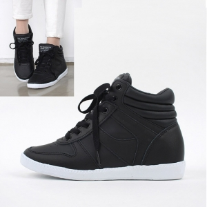 3d5e4f6f04a Women s Hidden Wedge Insole Increase Height High Top Sneakers