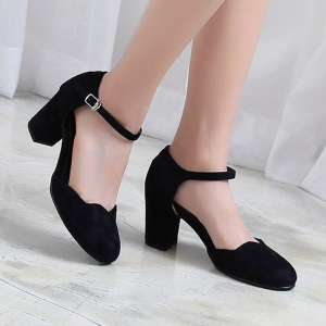 49513db71897 http   what-is-fashion.com 5805-44886-. Previous. Women s Round Toe Belt  Strap Comfort Chunky Heel Pumps ...