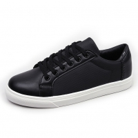 Men's Side Incision Stitch White Platform Padding Entrance Fashion Sneakers