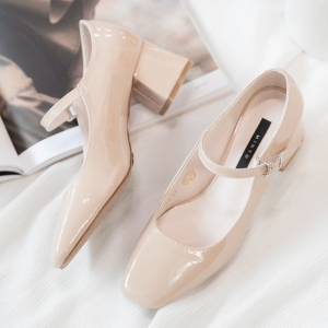 http://what-is-fashion.com/5836-45112-thickbox/women-s-beige-square-toe-front-belt-strap-block-med-heel-mary-jane-pumps.jpg