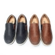 Men's Navy Round Toe Padding Entrance Slip On Loafer Casual Shoes