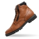 Men's Brown Cap Toe Both Zip Padding Entrance Ankle Boots