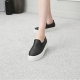 Women's Thick Platform Side Wrinkle Slip On Loafer Sneakers shoes