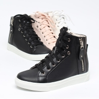Women's Increase Height Hidden Wedge Insole High Top Shoes