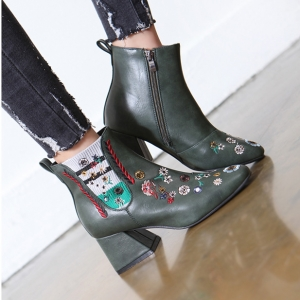 http://what-is-fashion.com/5910-45737-thickbox/women-s-green-round-toe-side-zip-chunky-med-heel-floral-embroidered-ankle-boots.jpg