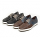 Men's Round Toe Two Tone Lace Up Casual Shoes