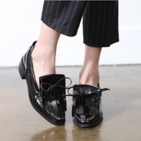 Women's Micro Stud Fringe Loafer Shoes