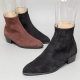 Men's Black Suede High Heel Ankle Boots Dress Shoes