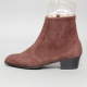 Men's Brown Suede High Heel Ankle Boots Dress Shoes