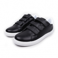 Men's White Platform Triple Velcro Strap Fashion Sneakers Shoes