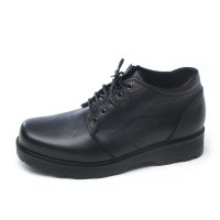 Men's Warm Inner Fur Side Zip Lace Up Low Casual Ankle Boots