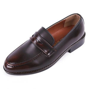 4ce6a49b02d http   what-is-fashion.com 6036-46799-. Previous. Men s Apron Toe Formal  Brown Synthetic Leather Penny Loafers Dress Shoes ...