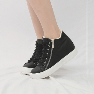 9d35c54804b6 http   what-is-fashion.com 6071-47038-. Previous. Women s Hidden Wedge  Insole High Top Black Fashion Sneakers Shoes ...