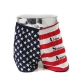 Mens US flag cotton boxer briefs underwear trunk slip pants