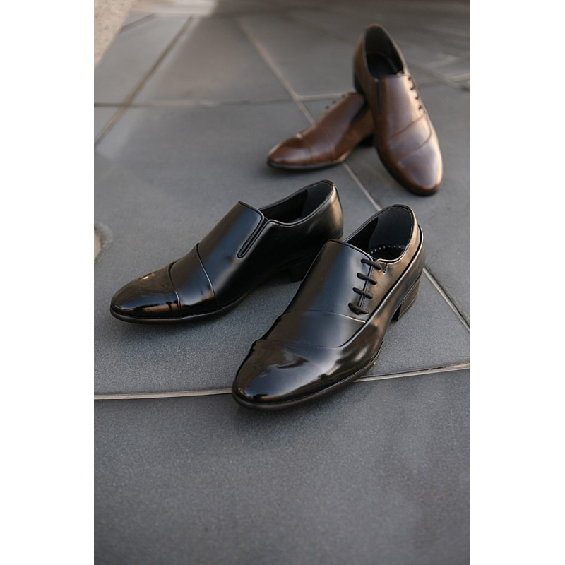 Men S China Style Side Lace Up Wrinkle Band Oxfords