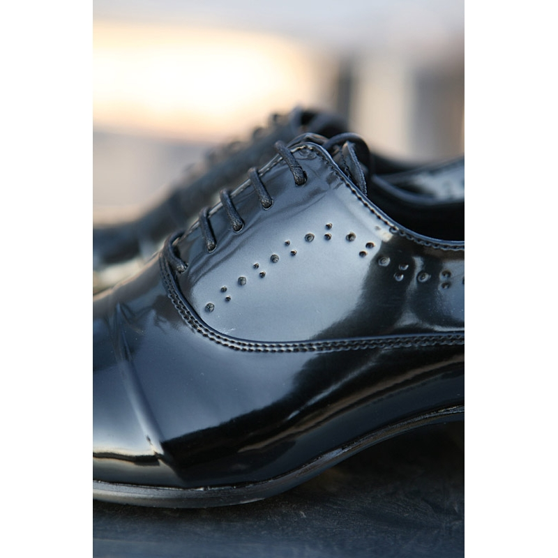 mens punching lace up wrinkle high heel dress shoes