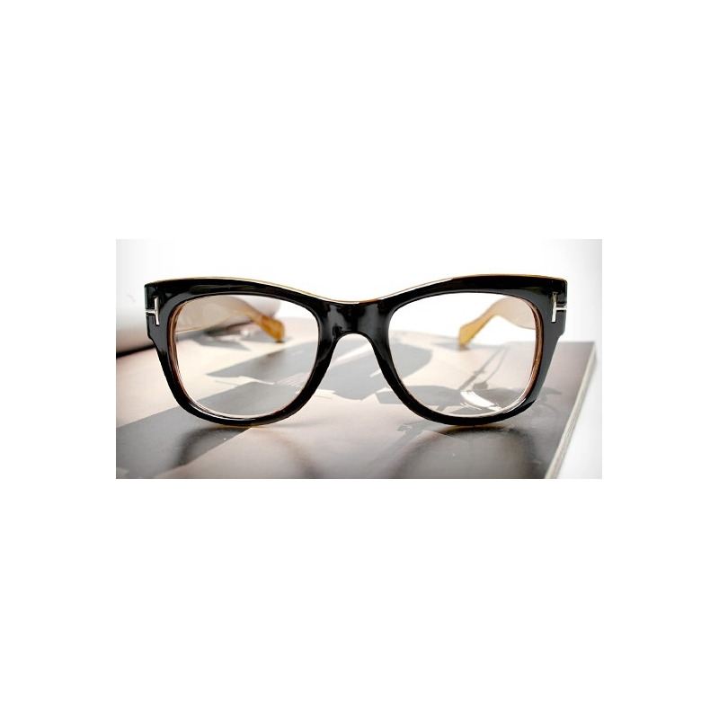 Glasses Frame For Thick Lenses : Vintage fashionable thick black EyeGlasses frames T wear