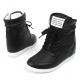 Colorful wedge Sneakers  Ankle High top Womens hidden increase insole shoes