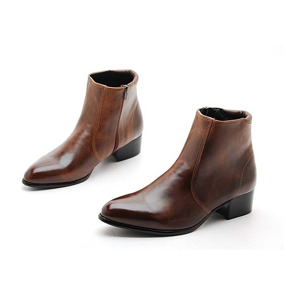 Brown Mens Ankle Boots