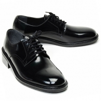 Navy Oxfrod black real Leather Lace Up dress shoes size US11 US12 US13