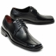 Oxfrod black real Leather Lace Up dress shoes big size US11 US12 US13