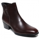Mens brown real Leather side zipper Ankle boots made in KOREA US5.5-10.5