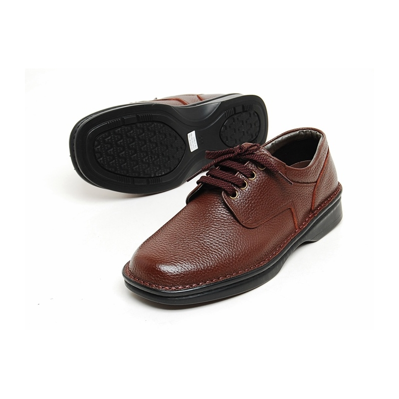 mens real cow leather lace up basic oxfords comfort