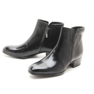 Mens real cow Leather side zipper Ankle Boots