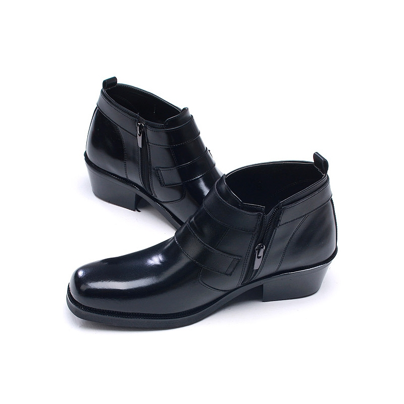 Mens Double Buckle Ankle Boots