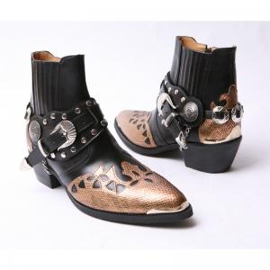 Black western bike boots