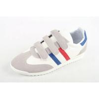 Men's multi color triple velcro strap wedge heel fashion sneakers