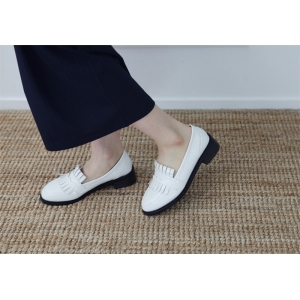 5e9ff5c6dd672 Women s Apron Toe Fringe Synthetic Leather Penny Loafer Shoes
